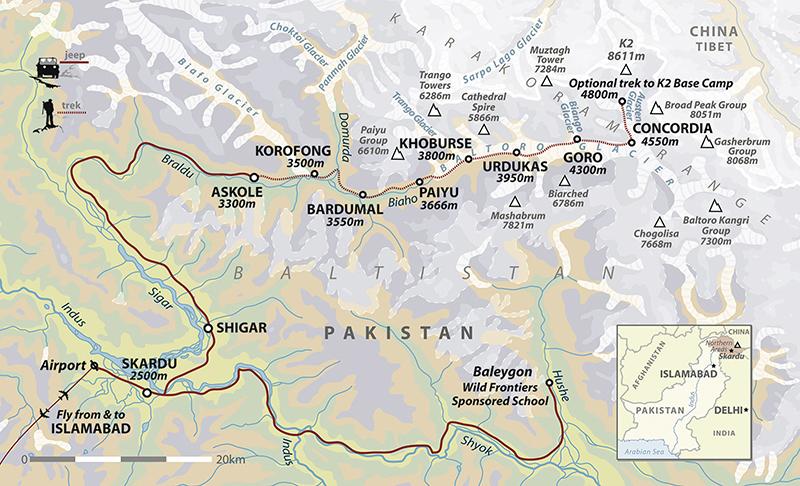 K2: The American North Ridge Expedition, on MountainZone.com: Map ...