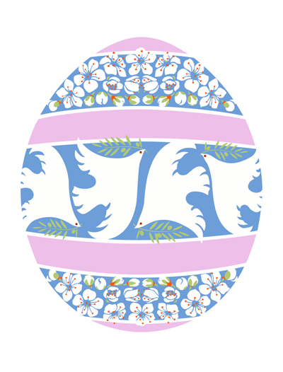 Dove & Blackthorn Easter Egg
